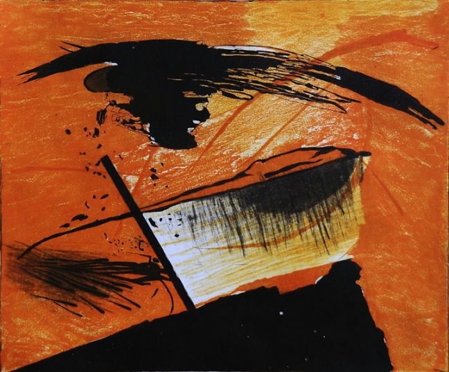 1)Promise Land, Aquatint, 15''x19'',2005