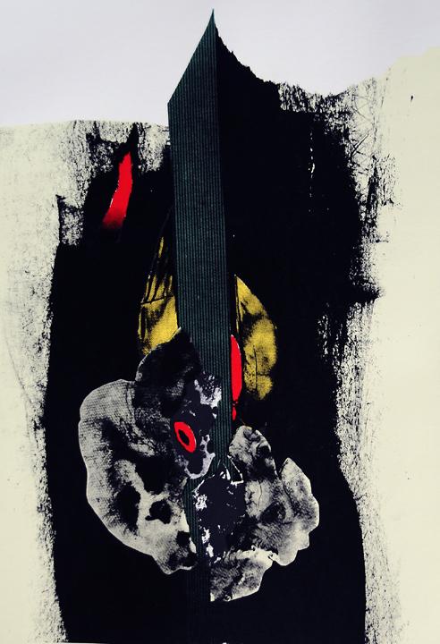 3) One Life, Silkscreen, 19''x13'', 2005