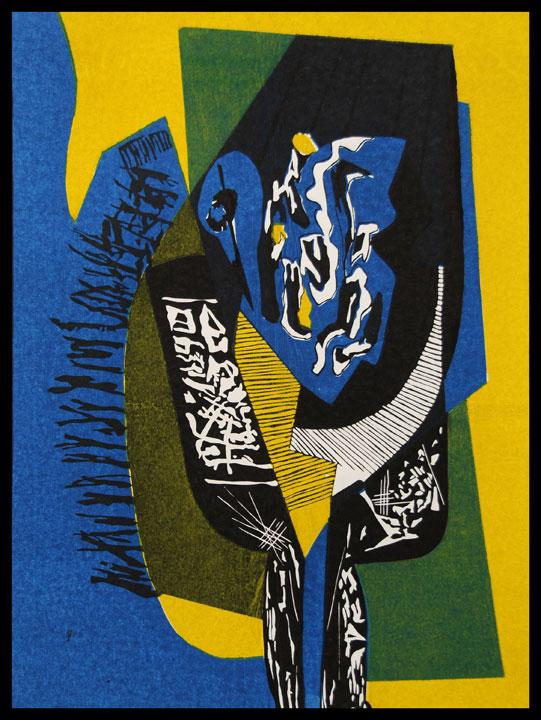 8) Swan, Linocut,19''x14'', 2002