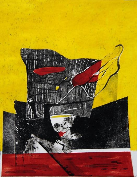 Untitle, 2005, Media Aquatint 13'' x 16''